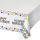 Creative Converting 335537 Rainbow Foil Plastic Tablecover Border Print, 54