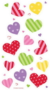 Creative Converting 335561 Valentine Décor Cello Bag, Twist Ties, Colorful Hearts, CASE of 240