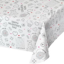 Creative Converting 335563 Valentine Décor Tablecover, Paper, Valentine Activity, CASE of 12