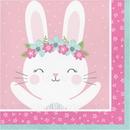 Creative Converting 336052 Birthday Bunny Luncheon Napkin, CASE of 192