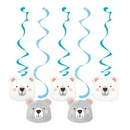 Creative Converting 336638 Birthday Bear Dizzy Danglers Assorted, CASE of 30