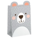 Creative Converting 336643 Birthday Bear Paper Treat Bag, CASE of 96