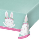 Creative Converting 336656 Birthday Bunny Plastic Tablecover All Over Print, 54