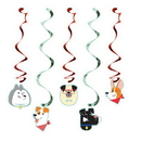 Creative Converting 336662 Dog Party Dizzy Danglers Assorted, CASE of 30