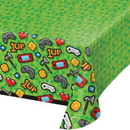 Creative Converting 336679 Gaming Party Plastic Tablecover All Over Print, 54