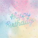 Creative Converting 336699 Iridescent Luncheon Napkin, Iridescent Happy Birthday (Case Of 12)