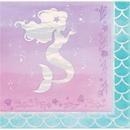 Creative Converting 336715 Mermaid Shine Luncheon Napkin, Iridescent (Case Of 12)