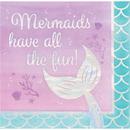 Creative Converting 336717 Mermaid Shine Luncheon Napkin, Iridescent All The Fun (Case Of 12)