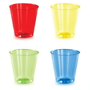 Creative Converting 338353 Asst Colors 16Ct 2 Oz Shot Glass, Assorted Colors (Case Of 12)