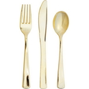 Creative Converting 338363 Metallic Gold 24Ct Assorted Cutlery, Metallic Gold (Case Of 12)