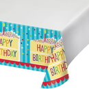 Creative Converting 338589 Cake Birthday Plastic Tablecover 48