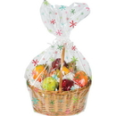 Creative Converting 339339 Christmas Basket Bag, Bright Snowflakes (Case Of 12)