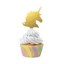 Creative Converting 339625 Unicorn Sparkle Cupcake Kit With Wrappers And Picks, CASE of 72