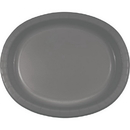 Creative Converting 339652 Glamour Gray Oval Platter 10