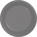 Creative Converting 339657 Glamour Gray Prem Pl Luncheon Plates, CASE of 240