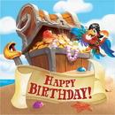 Creative Converting 339781 Pirate Treasure Luncheon Napkin, Happy Birthday (Case Of 12)