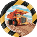 Creative Converting 339792 Big Dig Construction Luncheon Plate (Case Of 12)