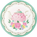 Creative Converting 339797 Floral Tea Party Luncheon Plate (Case Of 12)