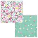 Creative Converting 339798 Floral Tea Party Luncheon Napkin, 2 Sided (Case Of 12)