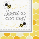 Creative Converting 339889 Bumblebee Baby Luncheon Napkin, Sweet As Can Bee (Case Of 12)