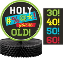 Creative Converting 340065 Age Humor Centerpiece Hc Shaped (Case Of 6)