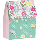 Creative Converting 340084 Floral Tea Party Favor Bag W/Ribbon (Case Of 6)