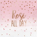 Creative Converting 340162 Rosé All Day Luncheon Napkin, Rosé All Day, Foil Stamp (Case Of 12)