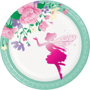 Creative Converting 340163 Floral Fairy Sparkle Luncheon Plate, Foil Stamp (Case Of 12)