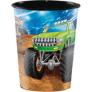 Creative Converting 340205 Monster Truck Rally Plastic Keepsake Cup 16 Oz. (Case Of 12)