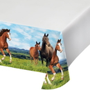 Creative Converting 340207 Horse And Pony Plastic Tablecover Border Print, 54