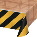 Creative Converting 340210 Big Dig Construction Plastic Tablecover All Over Print, 54