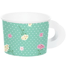 Creative Converting 340243 Floral Tea Party Treat Cups With Handles Assorted (Case Of 12)