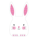 Creative Converting 343085 Easter & Spring Décor Cello Bag, Twist Ties, Easter Bunny With Ears (Case Of 12)