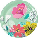 Creative Converting 343213 Contemporary Floral Luncheon Plate (Case Of 12)