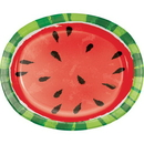 Creative Converting 343227 Juicy Watermelon Oval Platter (Case Of 12)