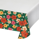 Creative Converting 343269 Tropical Flowers Plastic Tablecover, 54