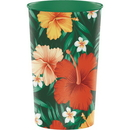 Creative Converting 343278 Tropical Flowers Printed Plastic Cup 22Oz. (Case Of 20)