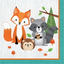 Creative Converting 343947 Wild One Luncheon Napkin, Animals (Case Of 12)