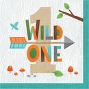 Creative Converting 343948 Wild One Luncheon Napkin, Wild One (Case Of 12)