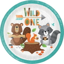 Creative Converting 343949 Wild One Luncheon Plate, Wild One (Case Of 12)