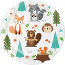 Creative Converting 343950 Wild One Luncheon Plate, Animals (Case Of 12)