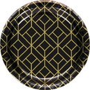 Creative Converting 343953 Roaring 20S Luncheon Plate, Foil (Case Of 12)