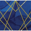 Creative Converting 343970 Navy Blue Gold Geode Luncheon Napkin, Foil Stamp (Case Of 12)