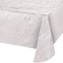 Creative Converting 344360 Opalescent White Tablecover, Opalescent White, 54