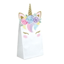 Creative Converting 344436 Unicorn Baby Paper Treat Bags With Attachments (Case Of 12)