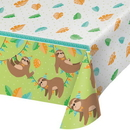 Creative Converting 344500 Sloth Party Plastic Tablecover All Over Print, 54