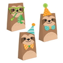Creative Converting 344510 Sloth Party Paper Treat Bags With Attachments (Case Of 12)