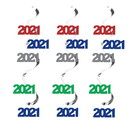 Creative Converting 345300 2021 Dizzy Danglers Assorted Colors Decor