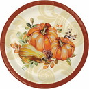 Creative Converting 345726 Luncheon Plate Autumn Wreath