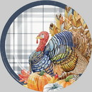 Creative Converting 345750 Luncheon Plate Thanksgiving Elegance